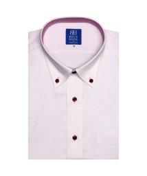 BRICKHOUSE/ワイシャツ 半袖 形態安定 ボタンダウン ピンク×ドット/502850531