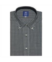 BRICKHOUSE/ワイシャツ半袖形態安定 ボタンダウン ブラック系/502850658