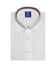 BRICKHOUSE/ワイシャツ 半袖 形態安定 ボタンダウン 白×エンジ、ネイビーチェック/502850742