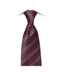 BRICKHOUSE/ネクタイ / ビジネス / フォーマル / 日本製ネクタイ 絹100% エンジ系 ストライプ柄/502850891