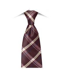 BRICKHOUSE/ネクタイ / ビジネス / フォーマル / 日本製ネクタイ 絹100% エンジ系 チェック柄/502850893