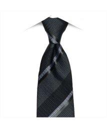 BRICKHOUSE/ネクタイビジネス 日本製 絹100% グレー系 ストライプ柄/502850966