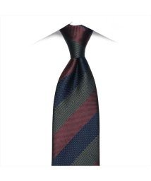 BRICKHOUSE/ネクタイビジネス 絹100% グレー系 ストライプ柄 (ワーキングタイ)/502851097