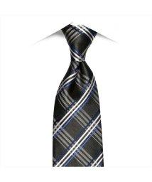 BRICKHOUSE/ネクタイビジネス 絹100% グレー系 チェック柄 (ワーキングタイ)/502851098