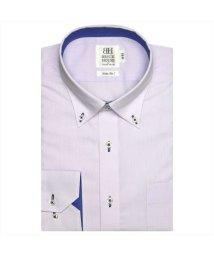 BRICKHOUSE/ワイシャツ長袖形態安定 ボタンダウン パープル系 スリム/502851581