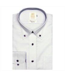 BRICKHOUSE/ワイシャツ長袖形態安定 ボタンダウン綿100% パープル系 スリム/502851604