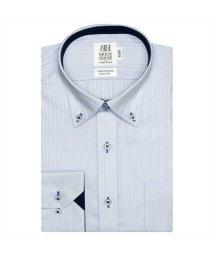BRICKHOUSE/ワイシャツ長袖形態安定 ボタンダウン綿100% サックス系 スリム/502851606