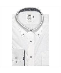 BRICKHOUSE/ワイシャツ長袖形態安定 ボタンダウン 白系 スリム(ニットシャツ)/502851622