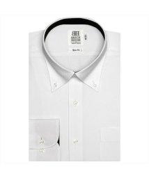 BRICKHOUSE/ワイシャツ長袖形態安定 ボタンダウン 白系 スリム/502851645