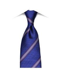 BRICKHOUSE/ネクタイビジネス 絹100% ブルー系 ストライプ柄/502851700