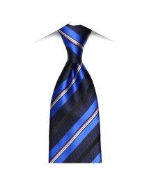 BRICKHOUSE/ネクタイビジネス 絹100% ネイビー系 ストライプ柄/502851701