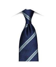 BRICKHOUSE/ネクタイビジネス 絹100% ネイビー系 ストライプ柄/502851702