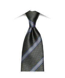 BRICKHOUSE/ネクタイビジネス 絹100% グレー系 ストライプ柄/502851703