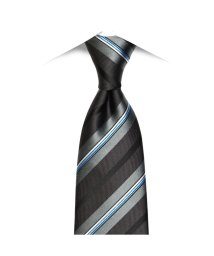 BRICKHOUSE/ネクタイビジネス 絹100% グレー系 ストライプ柄/502851704