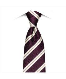 BRICKHOUSE/ネクタイ / ビジネス / フォーマル / 日本製ネクタイ 絹100% パープル系 ストライプ柄/502851871