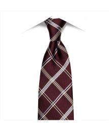 BRICKHOUSE/ネクタイ / ビジネス / フォーマル / 日本製ネクタイ 絹100% エンジ系 チェック柄/502851872