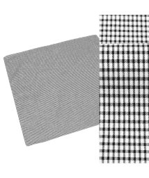 BRICKHOUSE/メンズ ハンカチ 日本製 綿100% 黒系 チェック柄/502852011