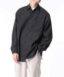 ADAM ET ROPE'/【NIKKE/日本毛織】レギュラーカラーシャツ/ビッグシルエット/502854050
