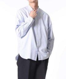 ADAM ET ROPE'/プレミアムコットン バンドカラーシャツ/ビッグシルエット/502854052