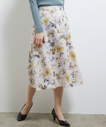 ROPE' PICNIC/アシメタック花柄フレアスカート/502854852