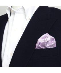 BRICKHOUSE/ポケットチーフ絹100% パープル バスケット織柄/502854902