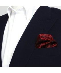 BRICKHOUSE/ポケットチーフ絹100% エンジ バスケット織柄/502854908
