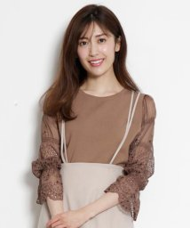 Rirandture/【美人百花3月号掲載】カットワーク刺繍袖透けニット/502855212