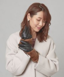THE STATION STORE UNITED ARROWS LTD./<LE VERNIS> フェイクファー コンビグローブ/502781594