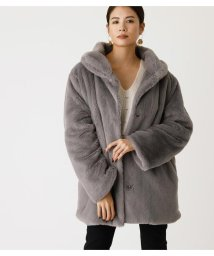AZUL by moussy/SHAWL COLLAR ECO FUR COAT/502856317