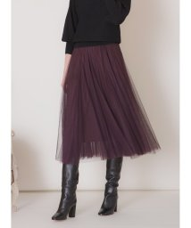 MIELIINVARIANT/Double Tulle Panel Skirt/502858316