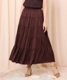 Couture Brooch/ヴィンテージ調サテンティアードスカート/502858846