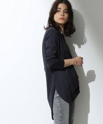 Demi-Luxe BEAMS/ATON / スビン ラウンドヘム ロングスリーブTシャツ/501286659