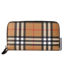 BURBERRY/【BURBERRY】Vintage Check&Leather Lg Zig Large Zip Around Wallet/502829926