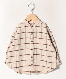 petit main/ヘリンボーンチェックシャツ/502841925