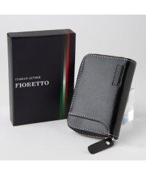 FIORETTO/牛革 イタリアンレザー コンパクト財布(ファスナータイプ)/502852418