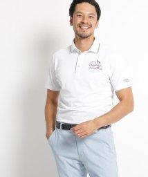 adabat/【UVカット】胸ロゴ刺繍半袖ポロシャツ/502860153