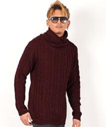 LUXSTYLE/ケーブルショールネックニット/ニット メンズ セーター ケーブル編み ショールネック/502860739