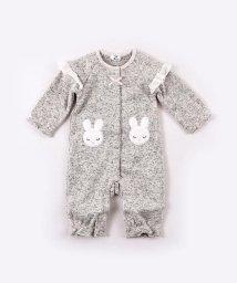 e-baby/ニットフリースウサギパッチカバーオール/502724034