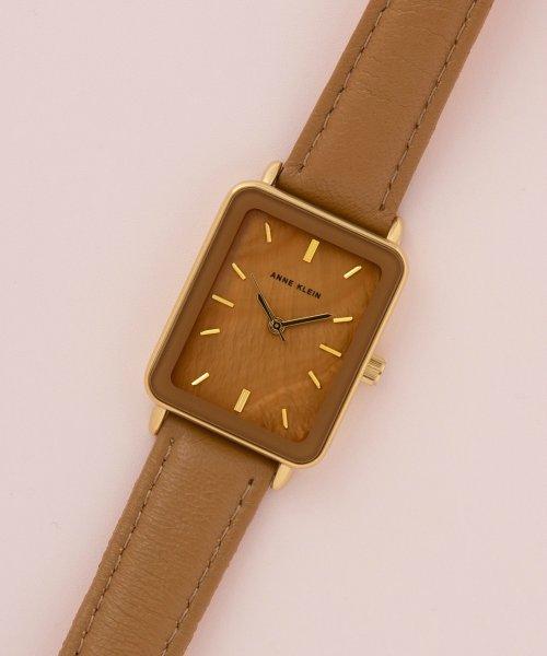 ANNE KLEIN(ANNE KLEIN)/ANNE KLEIN 腕時計 スクエアロングレザーウォッチ/AK/3518