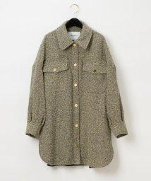 GRACE CONTINENTAL/ネップツイードシャツ/502853873