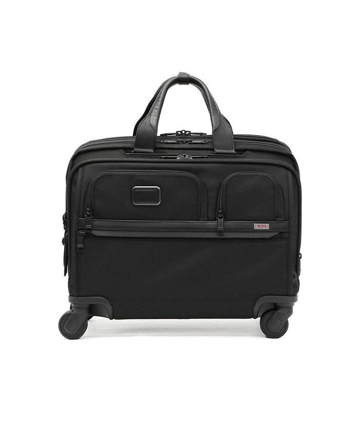 ギャレリア トゥミ スーツケース TUMI Alpha3 デラックス・4ウィール・ラップトップ・ケース・ブリーフ 機内持ち込み 2603627 ユニセックス ブラック F 【GALLERIA】