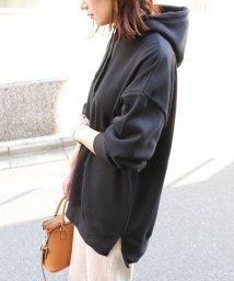 and Me.../あったか裏起毛オーバーサイズスウェットパーカーチュニック/502861827