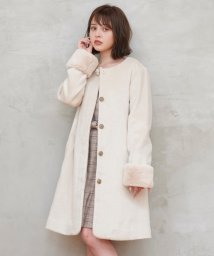 MAJESTIC LEGON OUTLET/ファー袖ノーカラーコート/502863951