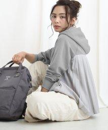ABITOKYO/スウェットワイドパーカー バックプリーツプルオーバー/502864785