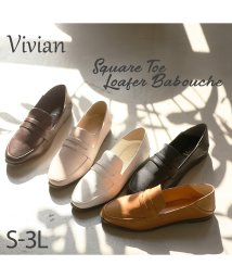 Vivian/スクエアトゥローファーバブーシュ/502866220