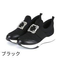 Vivian/ビジューバックルゴムスリッポンスニーカー/502866222