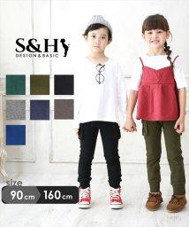 S&H/スリムフィット・ストレッチカーゴパンツ/502866264