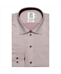 BRICKHOUSE/ワイシャツ長袖形態安定 ワイド綿100% エンジ系 スリム/502867240