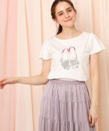 Couture Brooch/【WEB限定サイズ(LL)あり/手洗い可】バレエデイジープリントTシャツ/502870037