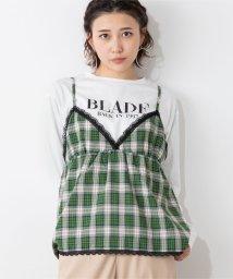 WEGO/【2点セット】WEGO/チェックキャミソールセットロゴTシャツ/502702695
